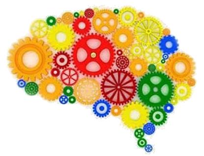 cervello realizzato con gli ingranaggi