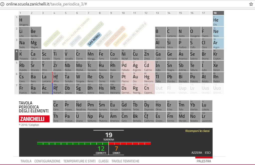 Essediquadro la tavola periodica interattiva zanichelli web - Tavola periodica interattiva zanichelli ...